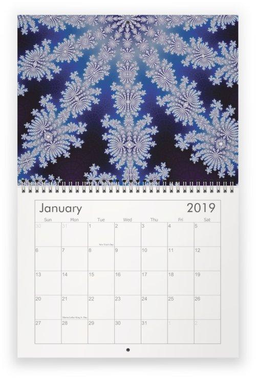 01 - Fractal Time - 2019 Wall Calendar