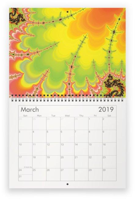 03 - Fractal Time - 2019 Wall Calendar