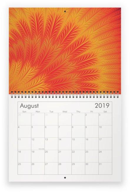 08 - Fractal Time - 2019 Wall Calendar