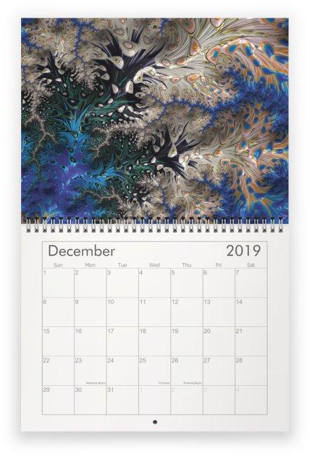12 - Fractal Time - 2019 Wall Calendar